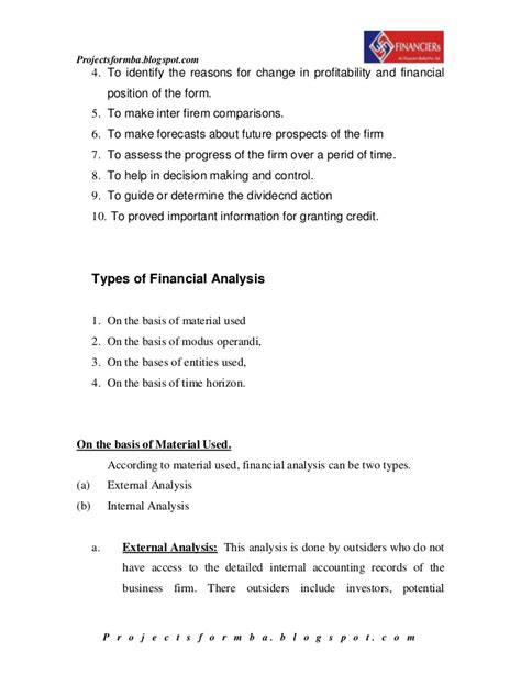 sle of financial statement analysis report 28 images