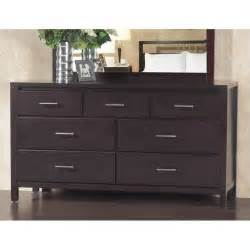 modus nevis 7 drawer dresser in espresso nv2382