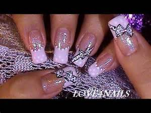 Quick amp easy bow tie nail art design youtube