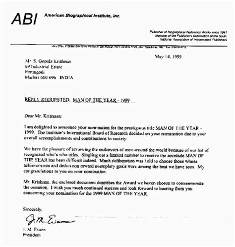 nomination letter format nomination letter template images