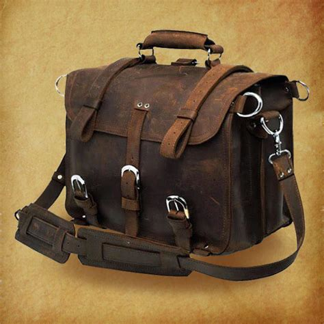 rugged leather bags high quality genuine leather bag rugged leather briefcase backpack messenger laptop