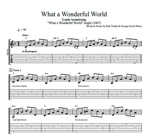 what a wonderful world guitar guitar chords for what a wonderful world guitar