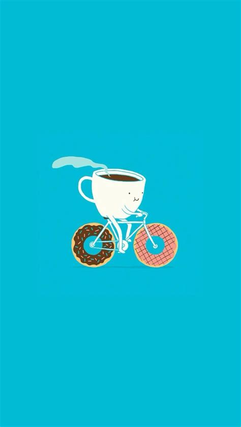 coffee wallpaper for iphone 4 cartoon coffee and donuts wallpaper free iphone wallpapers