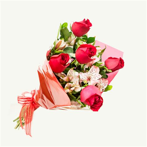 Bouquet of 5 roses   Kukyflor