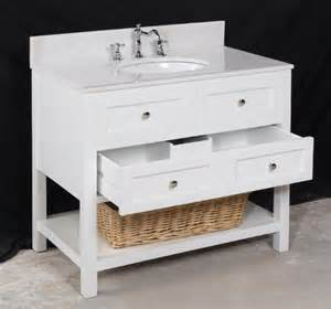 36 inch single sink white bathroom vanity sets