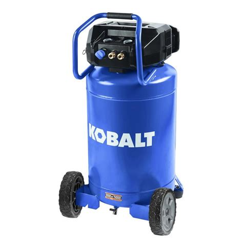 kobalt 20 gallon portable electric vertical air compressor at lowes