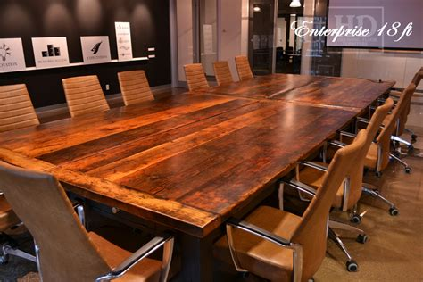 Timber Boardroom Table Toronto Reclaimed Wood Boardroom Table With Casters