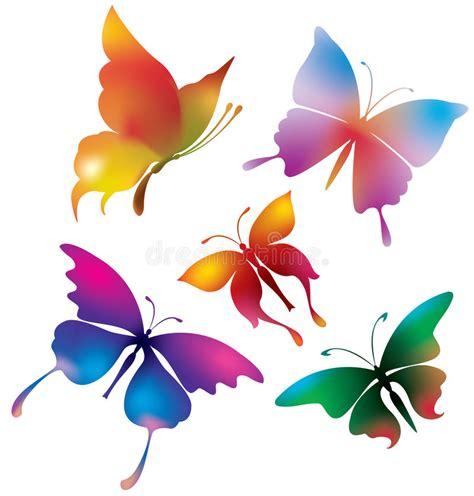 farfalle clipart farfalle colorate illustrazione vettoriale illustrazione