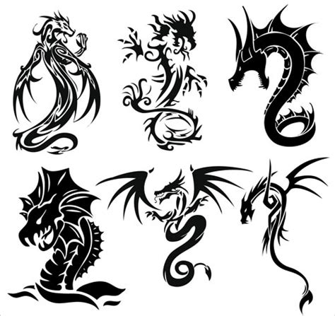 dragon tattoo vector free dragons vector graphics blog page 3