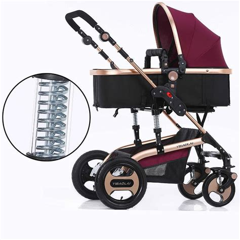 Fashion Ransel Ms1861 Set 3in1 baby stroller 3 in 1 single seat fashion style foldable stroller stroller high quality aluminium