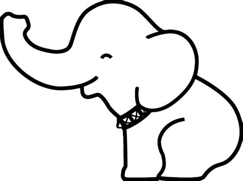 template of elephant pin elephant outline on outlines babies and string templates