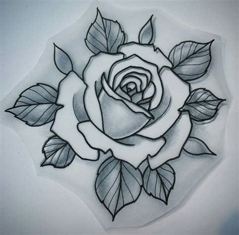 download 2d rose tattoo danielhuscroft traditional drawing neo