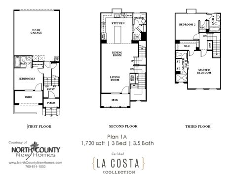 new house plans 2013 la costa collection floor plans plan 1a north county