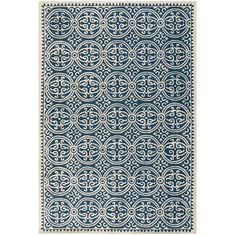 rugs with blue safavieh cambridge navy blue ivory 6 ft x 9 ft area rug cam123g 6 the home depot