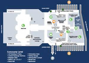 Map Of Union Station Chicago by Chicago Union Station Concourse Map