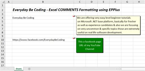 format excel comments how to format comment resize and text background color