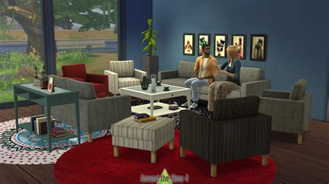The Living Room Salon Around The Sims 4 Custom Content Objects