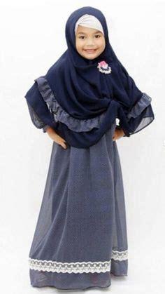 Busana Muslim Anak Abaya Hilda black muslimah sleeve maxi dress small