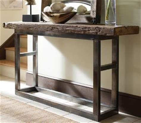 metal and wood entry table emeric iron leg console table rustic