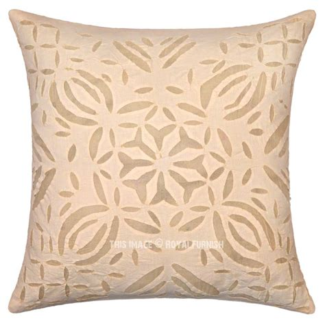 Beautiful Throw Pillows 16 Quot Beautiful Cutwork Throw Pillow Cotton Pillow Cover