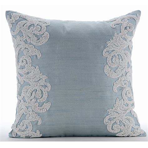 Light Up Pillows And Blankets by Luxury Light Blue Throw Pillows Cover 16x16 Silk