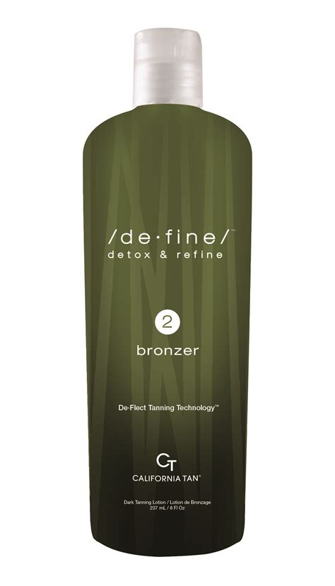 Define Detox And Refine Tanning Lotion de bronzer step 2 bottle tanning supplies unlimited