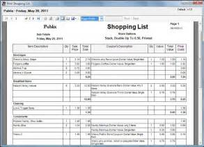 Coupon List Template Laurie Ann S Coupon Tracker Screen Shot Shopping List