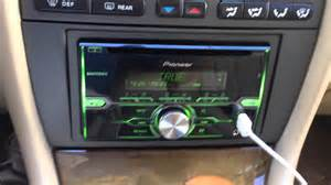 jaguar x type radio install with pioneer fh x720bt youtube