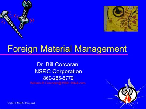 foreign matter foreign material mgt 2010 02 27 0901
