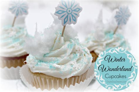 winter wonderland cupcakes day to day dreams