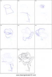 draw rose flower printable step step drawing sheet drawingtutorials101
