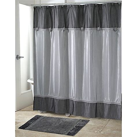 avanti shower curtain avanti braided medallion shower curtain in granite bed
