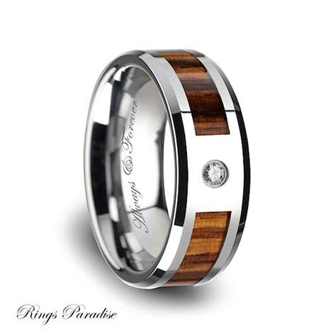 tungsten wood wedding band tungsten wood ring