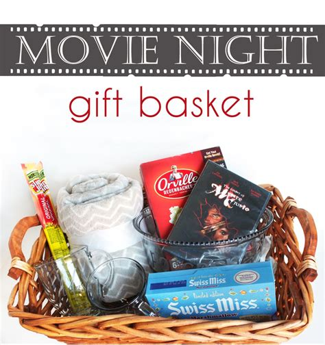 film up gifts hot chocolate and popcorn movie night gift basket cutesy