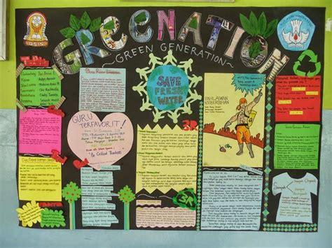 membuat montase tema lingkungan 17 contoh mading sekolah mading kelas mading 3d lengkap