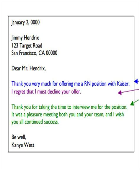 job letter templates ms word