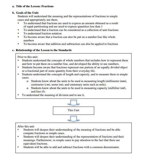 elementary lesson plan template sle elementary lesson plan template 7 free documents