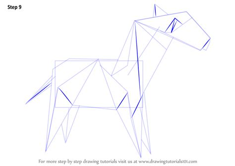 drawing origami learn how to draw an origami zebra everyday objects step