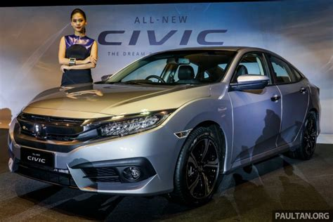 india bound 2016 honda civic launched in malaysia starts