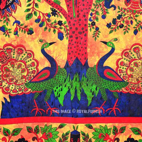 tapestry coverlet multicolor queen size indian tree of life hippie wall