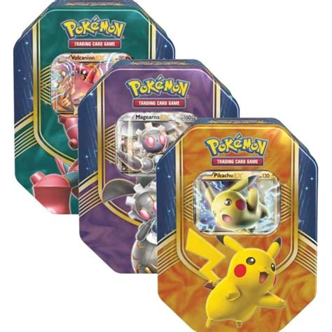 Set 3 In 1 Pikachu by Battle Tin Set Of 3 Pikachu Ex Magearna