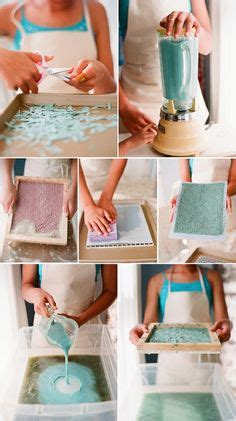 handmade recycled paper on handmade paper