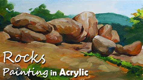 acrylic painting rocks how to paint rocks stones in acrylic acrylic painting