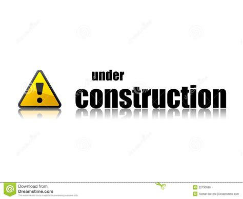under construction template royalty free stock photos