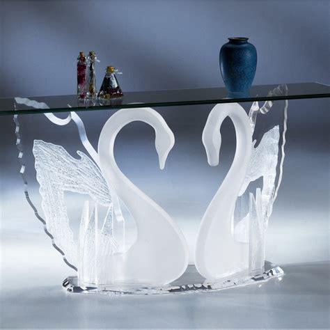 clear acrylic sofa table acrylic clear legend swan sofa table with glass top