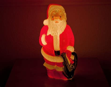 finds of the century 1960 s empire plastic light up santa
