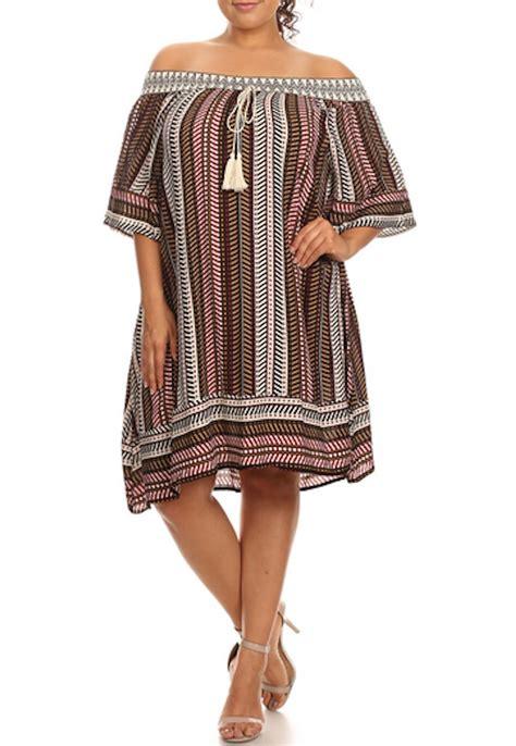 Shoulder Printed A Line Dress description patterned stripe printed the shoulder a
