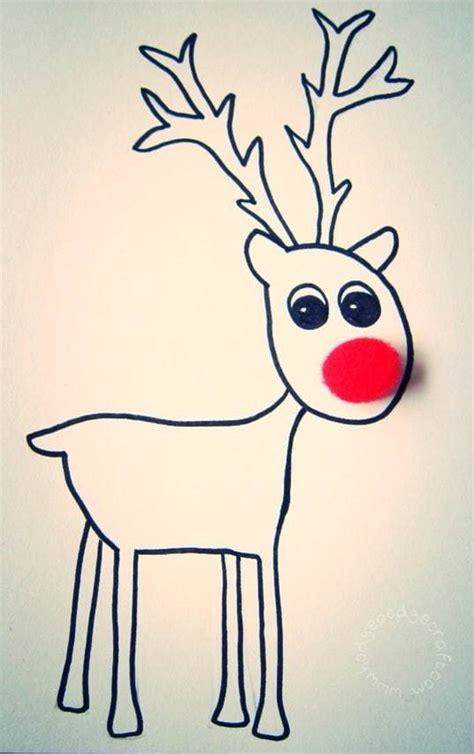 printable reindeer card pompom reindeer christmas cards free printable