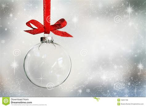 transparent empty christmas bauble stock photo image
