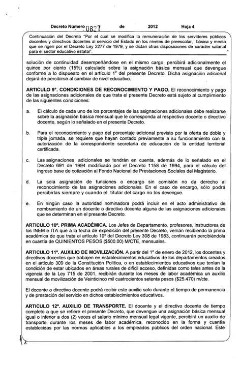 salarios decreto 2277 magisterio decreto de salarios docentes del 1278 2016 salarios